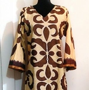 African Ankara Ethnic Long Shift Dress